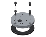 Mounting flanges for tipping valves